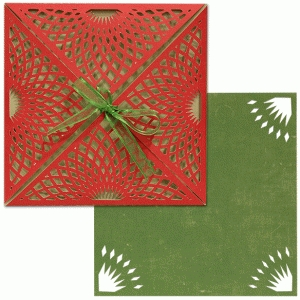 card wrap set: sunburst lace