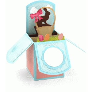 a2 box card: easter basket