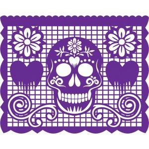 silhouette design store view design 56347 papel picado sugar skull. Black Bedroom Furniture Sets. Home Design Ideas
