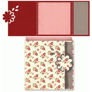 floral square card
