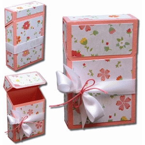 3d hinged favor box with mats