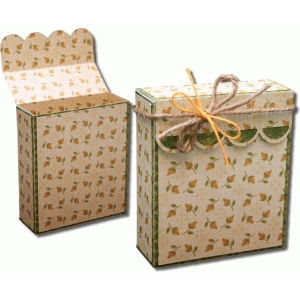 3d scallop flap over gift box