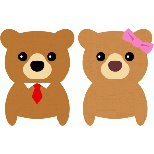 cute couple bear