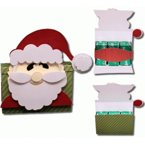 3d santa 6 count flip open candy box