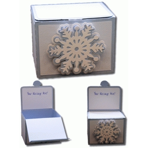 snowflake box with hidden card