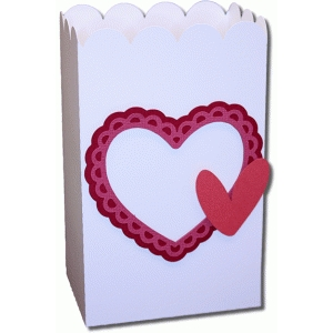 scallop heart favor box