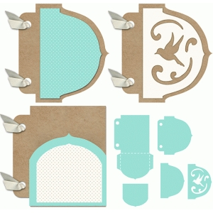 3x4 mini album pocket bird set