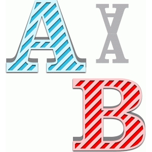shaped letter card a-b