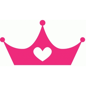 heart princess crown