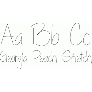 georgia peach sketch font