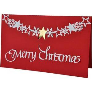 merry christmas star banner card