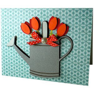 watering can tulip card