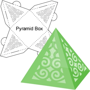 christmas tree pyramid box