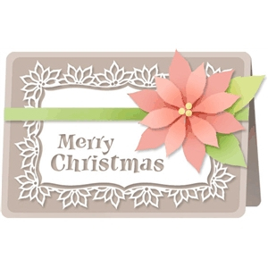 poinsettia card kit