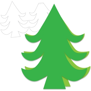 pine tree shaped card
