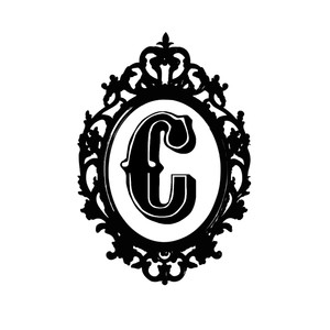 framed c monogram