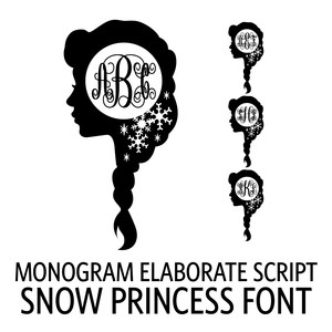 monogram elaborate script - snow princess