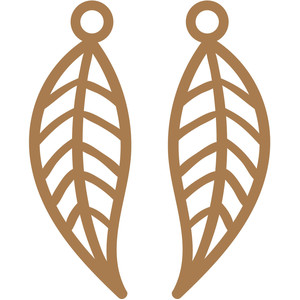 lined leaves earrings