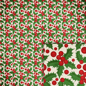 christmas holly background paper