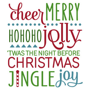 christmas word collage phrase