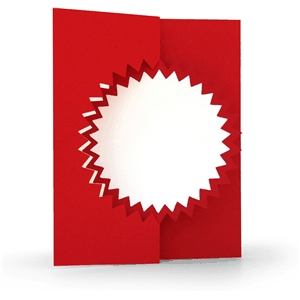 3d flip swing card burst