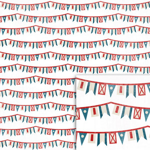 nautical flag banners background paper