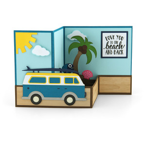pop up box card surf van