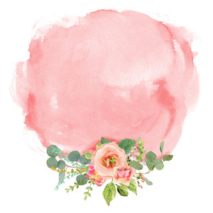 pink watercolored florals