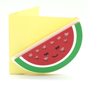 watermelon and hearts card
