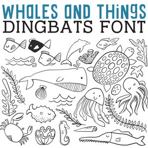 cg whales and things dingbats