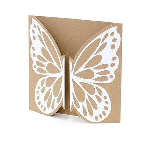 butterfly gate fold card