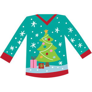 festive tree sweater