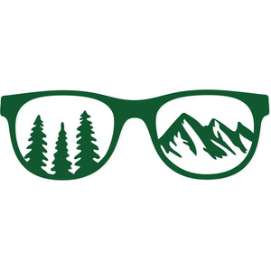 mountain landscape sunglasses