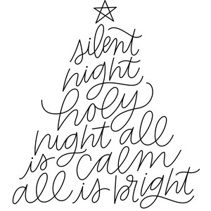 sketch silent night lyrics christmas tree