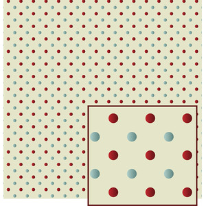 mulberry and denim polka dot pattern
