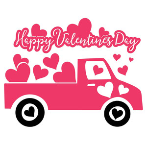 happy valentines day love truck