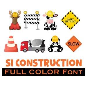 full-color construction dingbats font