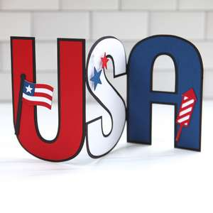 usa accordion fold card