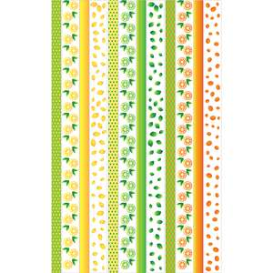 summer citrus washi sticker border planner tape