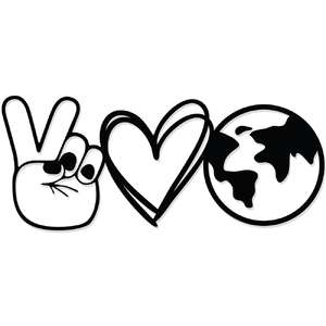 peace, love, earth