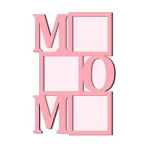 mom word photo frames