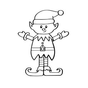 cute elf clip art illustration santa's helper