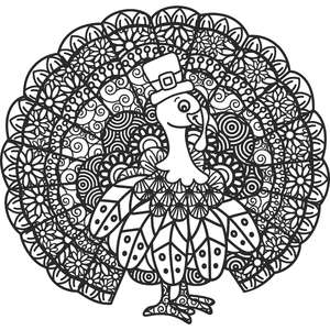 turkey zentangle