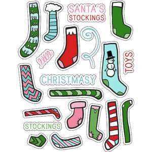 ml santa's stockings stickers