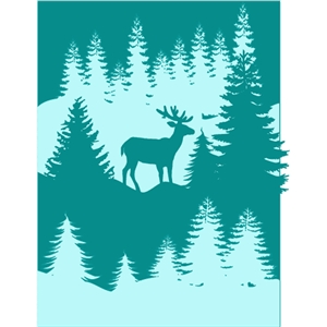 winter scene tri-fold card