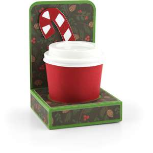 mini coffee cup holder candy cane
