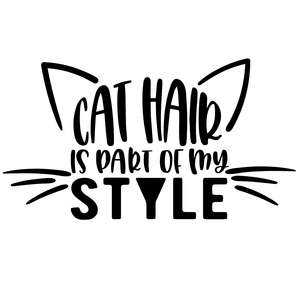 cat hair is part of my style