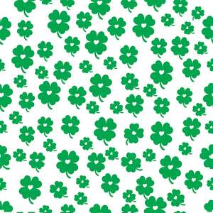 four clover st patrick's pattern