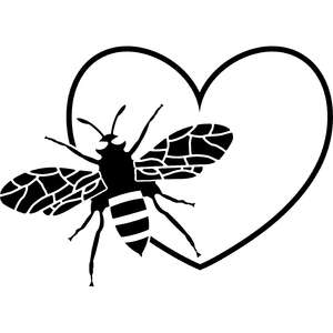 bee and heart