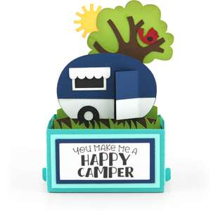 rectangle pop up card camper